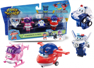 SUPER WINGS SEZON 2 FIGURKI TRANSFORMUJĄCE 4 SZT