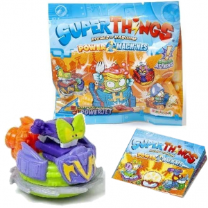 SUPER ZINGS SERIA 7 THINGS POWER MACHINES POWER JET + FIGURKA