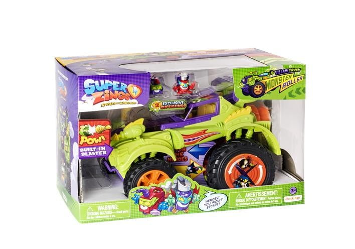 SUPER ZINGS 3 ZESTAW MONSTER ROLLER VILLAIN + 2 FIGURKI