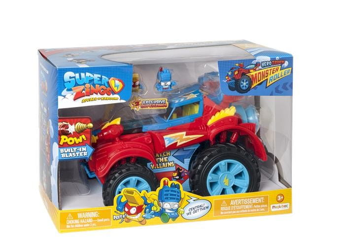 SUPER ZINGS 3 ZESTAW TRUCK MONSTER HERO + 2 FIGURKI
